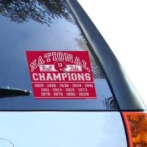 Alabama Crimson Tide 2009 BCS National Champions 4.5 x 5