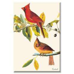 John James Audubon Cardinal Canvas Art
