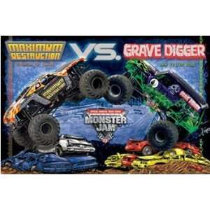 Monster Jam   Grave Digger   Maximum Destruction   Poster
