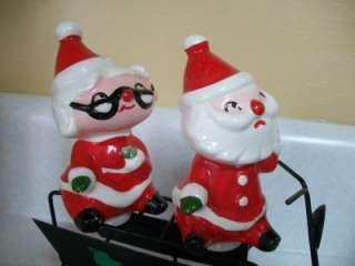 HOLT HOWARD PIXIE SANTA MRS CLAUS SCOOTER CHRISTMAS FIGURINE