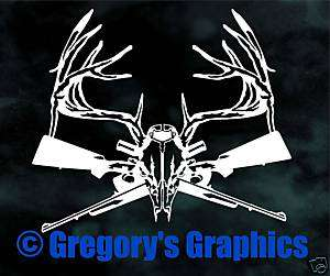 Whitetail Deer Buck Rifle Gun Hunting decal