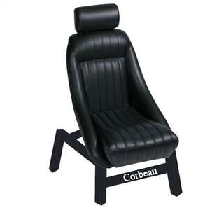Corbeau Classic Bucket Black Vinyl Office Chair Furniture