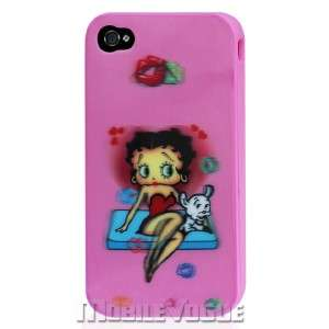 Betty Boop Silicone Skin Case Cover For iPhone 4 AT&T