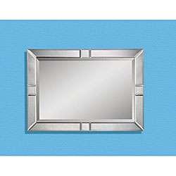 Rectangular Mirror with Beveled Mirror Panels