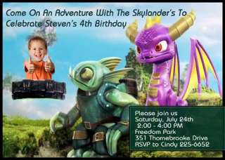 SKYLANDERS Custom Birthday Party Invitation I CREATE AND YOU PRINT