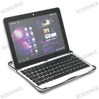 Wireless Bluetooth keyboard Aluminum Case for Samsung Galaxy Tab 10.1