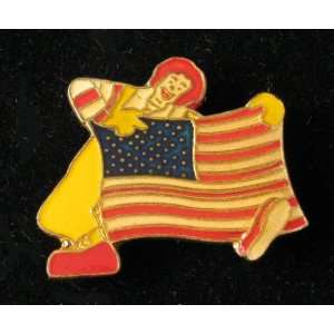 Ronald Mcdonald with American Flag Pin