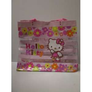 Hello Kitty Vynil Beach Tote Bag: Floral: Toys & Games