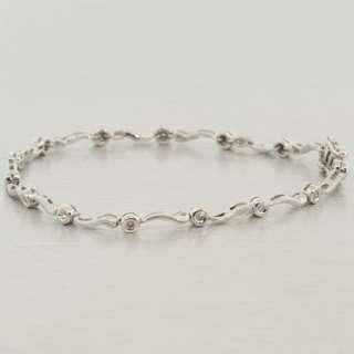 Vintage Estate 14K White Gold Diamond Tennis Bracelet
