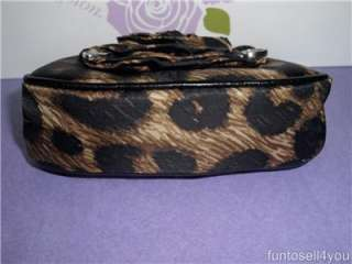 Brighton RENAISSANCE ROSE Satin Leopard Print Coin Purse NWT