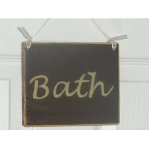 BATH Chic Shabby Rustic CUSTOM Plaque Wood Sign Wall Decor
