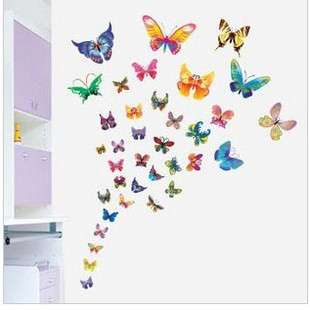 37 Butterfly Wall Decor Decal Sticker Removable Vinyl