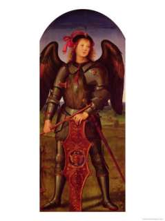 The Virgin and Child with Ss. Raphael and Michael Left Hand Panel of