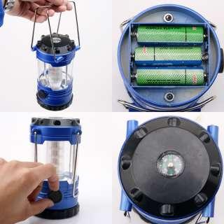 New 12 LED Bivouac Hiking Camping Light Lantern Compass
