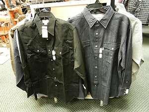 Carhartt S209, S211) Snap Front Twill Work Shirt