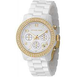 Michael Kors Womens MK5237 White Ceramic Watch