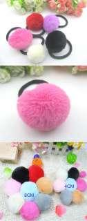 New Popular Cute Large Plush Ball Hair Ring Rope LKT0026