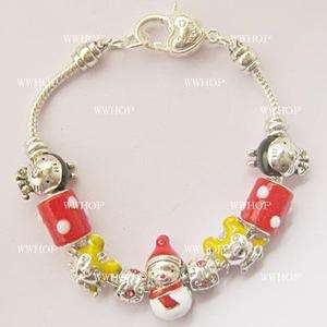 European Style Charms Bracelets Christmas Beads cp092