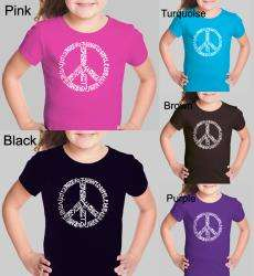 Los Angeles Pop Art Girls Peace Symbol T shirt