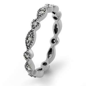 Cubic Zirconia Round Cz Eternity Wedding Band Ring Sterling Silver 925