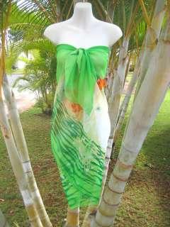 DOLPHINS SUNSET Beach Cover up Hawaii Cruise Wrap Skirt Dress