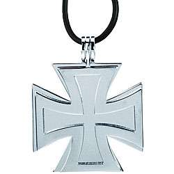 Stainless Steel Two piece Iron Cross Necklace