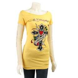 Ed Hardy Womens Love Cross Double sleeve Shirt