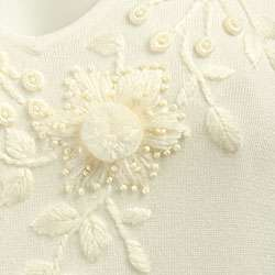 FINAL SALE Dolce Cabo Womens Embroidered/ Beaded Sweater