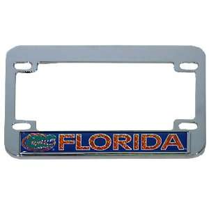 Florida Gators Hologram Chrome Motorcycle License Plate