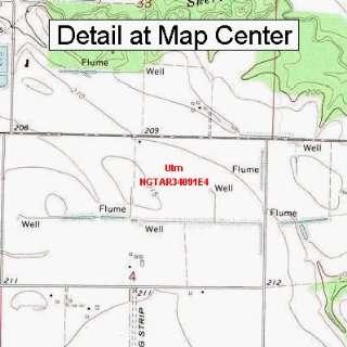 USGS Topographic Quadrangle Map   Ulm, Arkansas (Folded