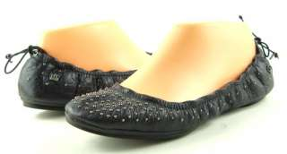 JUICY COUTURE RUBY Black Womens Shoes Ballet Flats 6