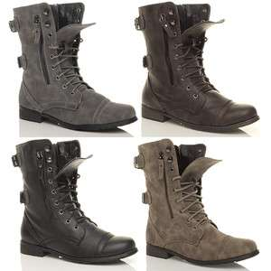 WOMENS MILITARY LADIES COMBAT ARMY LACE UP BOOTS SIZE