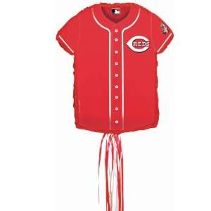 Lets Party By YA OTTA PINATA Cincinnati Reds Baseball   Shirt Shaped