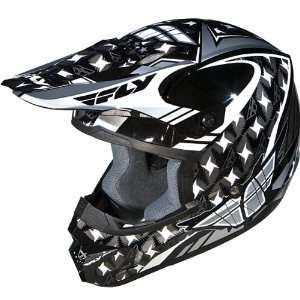 Fly Racing Kinetic Flash Graphic Motorcycle Helmet Silver/Black/White