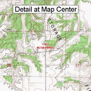 USGS Topographic Quadrangle Map   Cairo, Iowa (Folded