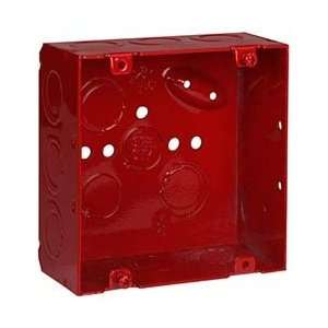 Thomas & Betts 2 1/8x4 11/16 Red Fire Alarm Box