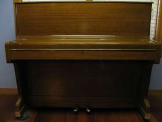 ZIMMERING & SONS UPRIGHT WOODEN PIANO