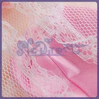 Satin LACE Pajamas Underwear Set For Barbie Pink White