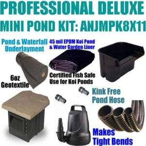 Professional 12 x 15 Deluxe Mini Pond Kit ANJMPK8x11