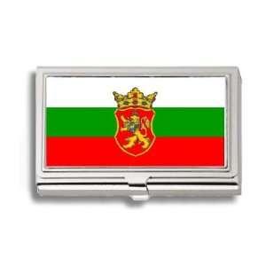 Bulgarian Serbian Flag Business Card Holder Metal Case