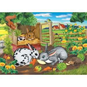 At The Farm Rabbits Jigsaw Puzzle 35pc Toys & Games