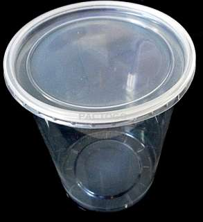 Round Deli Container and Lids   50 Sets Clear Plastic Food Cups