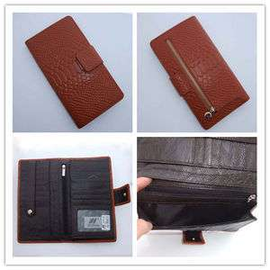 Embossed Genuine Real Leather Wallet Purse Credit Card Coin Pouch