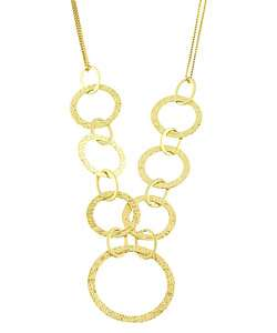 14k Gold Circle Double strand Necklace  Overstock