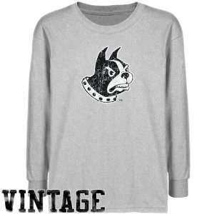 NCAA Wofford Terriers Youth Ash Distressed Logo Vintage T