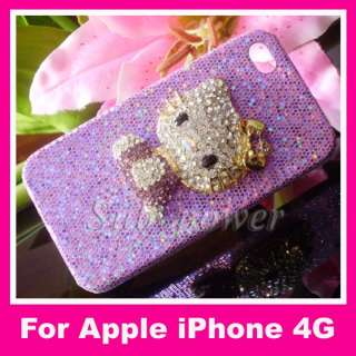 Hello Kitty Bling Crystal Case cover for iPhone 4 4G 4s B11