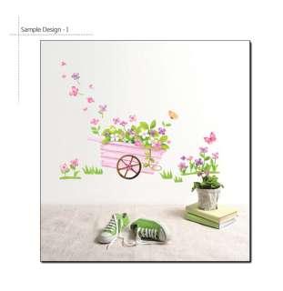 SPRING FLOWERS Vinyl Art Wall Decal Sticker Decor Paper