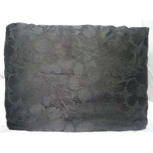100% Silk Queen Black Jacquard Tailored Pillow Sham: Home