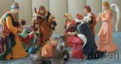 Lenox Christmas Nativity Holy Family 9 Piece