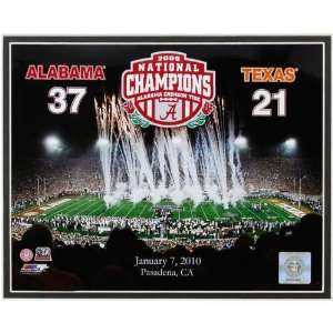 Alabama Crimson Tide 2009 National Champions 11 x 14